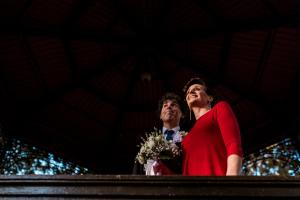 newlyweds looking into their future zrinjevac pavilion